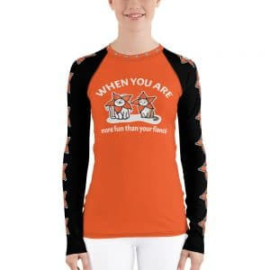 Women's When You Are More Fun Than Your Fiancé Orange Active Long Sleeve